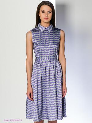 Платье Анна Чапман. Цвет: зеленый, фиолетовый