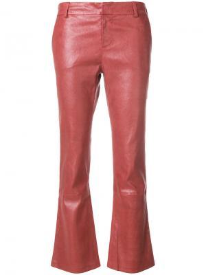Укороченные брюки слим Giada Benincasa. Цвет: красный
