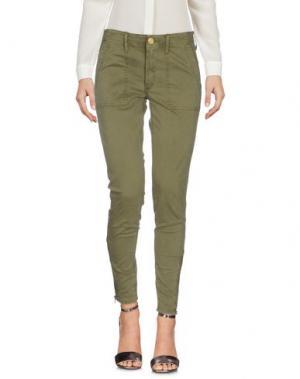 Повседневные брюки TRUE RELIGION. Цвет: зеленый-милитари