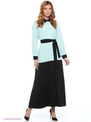 Платье CLABIN. Цвет: черный, голубой