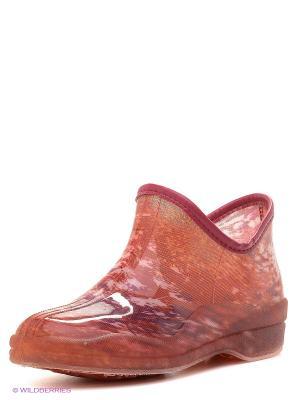 Резиновые сапоги BRIS. Цвет: розовый