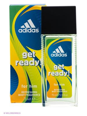 Освежающая парфюмированная вода для мужчин adidas Get Ready 75 мл. Цвет: салатовый, синий