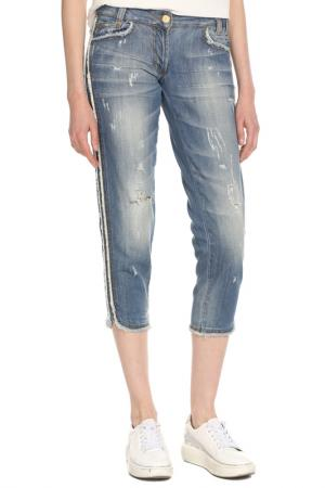 Бриджи джинсовые Just Cavalli. Цвет: голубой
