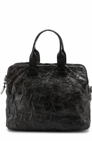 Кожаная сумка для ноутбука с плечевым ремнем Numero 10. Цвет: черный