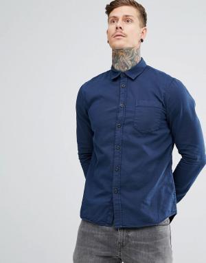 Nudie Jeans Рубашка классического кроя Co Henry. Цвет: синий