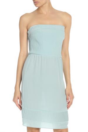 Платье с открытыми плечами Liu Jo. Цвет: мятный