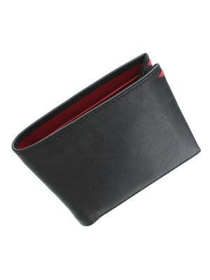 Бумажник Knight Visconti. Цвет: черный, красный