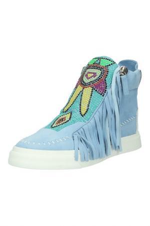 Кроссовки Giuseppe Zanotti. Цвет: голубой