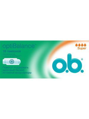 Тампоны optiBalance Супер 16шт o.b.. Цвет: белый
