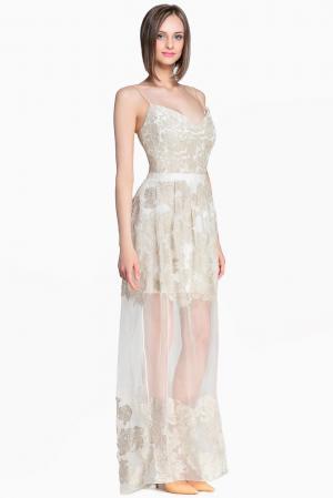 Платье из шелка 132163 Lolita Shonidi. Цвет: бежевый