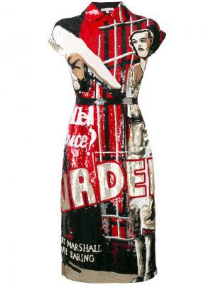 Платье с рисунком Olympia Le-Tan. Цвет: чёрный