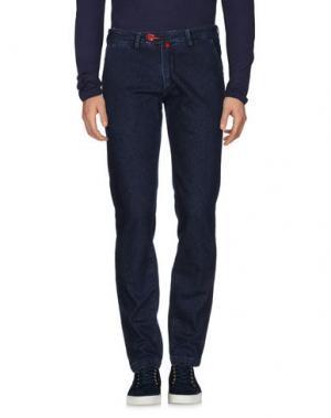 Джинсовые брюки BARONIO. Цвет: синий