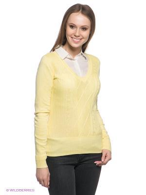 Пуловер Baon. Цвет: желтый