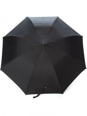 Зонт с ручкой в виде черепа Alexander McQueen. Цвет: чёрный