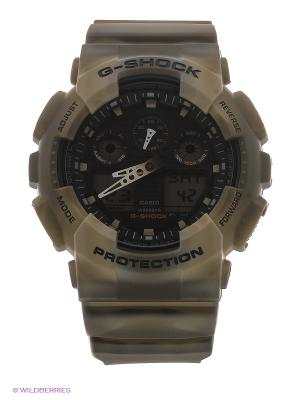 Часы G-Shock GA-100MM-5A CASIO. Цвет: хаки