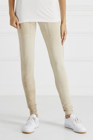 Однотонные брюки Jonofui. Цвет: бежевый