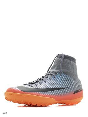 Шиповки MERCURIALX VCTRY VI CR7 DF TF Nike. Цвет: серый