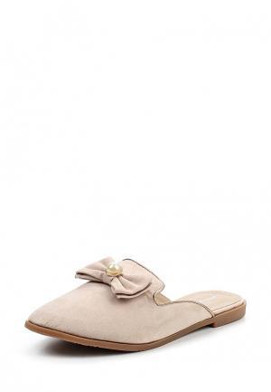 Сабо Ideal Shoes. Цвет: бежевый