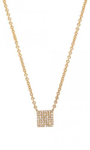 Ожерелье pave square Sachi. Цвет: металлический золотой