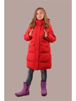 Пальто Fobs. Цвет: красный
