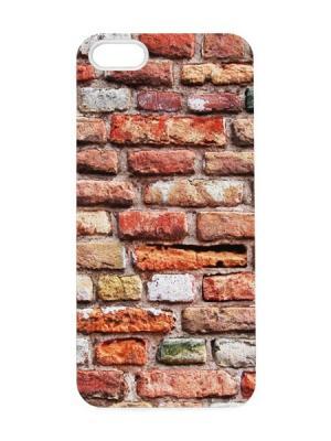 Чехол для iPhone 5/5s Кирпичная стена Арт. IP5-062 Chocopony. Цвет: белый, черный