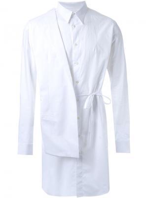 Рубашка со съемным блейзером Consistence. Цвет: белый