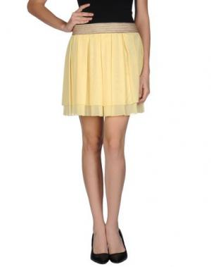 Мини-юбка TO-MAY. Цвет: желтый