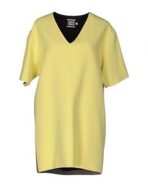 Короткое платье FAUSTO PUGLISI. Цвет: желтый