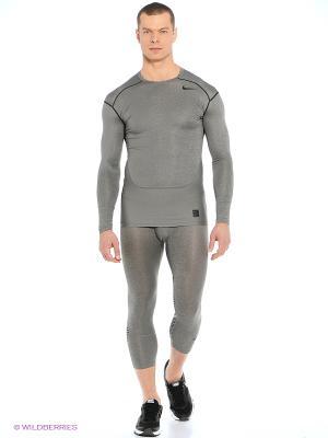 Тайтсы HYPERCOOL 3/4 TIGHT Nike. Цвет: зеленый, серый, бронзовый, серый меланж