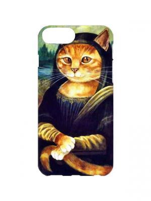 Чехол для iPhone 7Plus Кошка Лиза Арт. 7Plus-249 Chocopony. Цвет: черный, коричневый