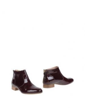 Полусапоги и высокие ботинки EYE. Цвет: баклажанный