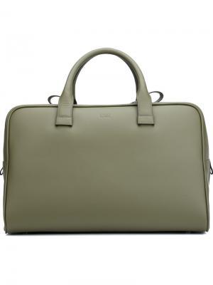 Большая сумка-тоут Valas. Цвет: зелёный