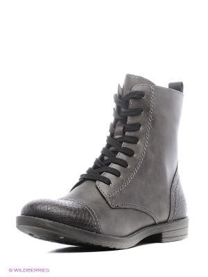 Ботинки Tamaris. Цвет: темно-серый, черный