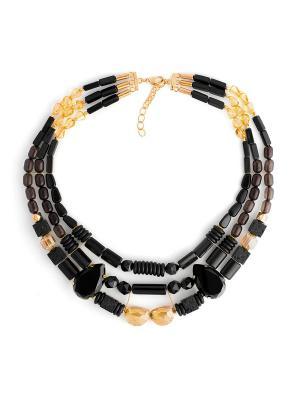 Клеопатра Роман с камнем. Цвет: коричневый, черный