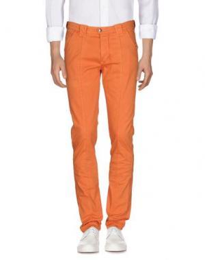 Джинсовые брюки BARBA NAPOLI. Цвет: оранжевый