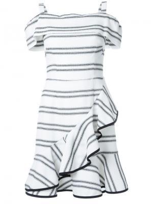 Платье мини Jupiter с оборками Rebecca Vallance. Цвет: белый