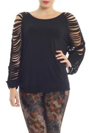 Блуза Moda di Lorenza. Цвет: black