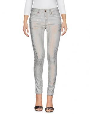 Джинсовые брюки AB/SOUL. Цвет: светло-серый