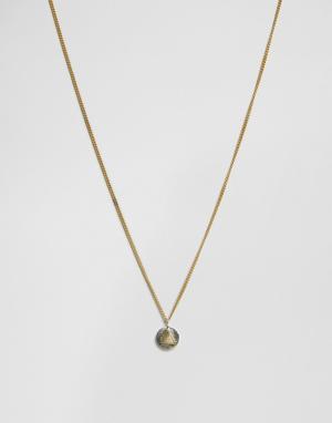 Made Ожерелье с двухцветной подвеской. Цвет: золотой