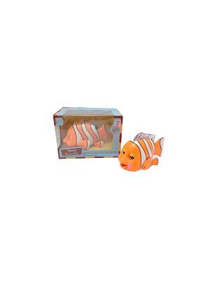 Игрушка детская Рыбка со звуковыми и световыми эффектами HUILE. Цвет: оранжевый, белый