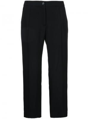 Широкие укороченные брюки Zambesi. Цвет: чёрный
