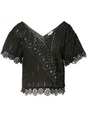 Блузка с английской вышивкой Opening Ceremony. Цвет: чёрный