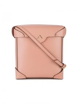 Сумка через плечо Pristine Manu Atelier. Цвет: розовый и фиолетовый