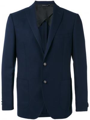Пиджак с накладными карманами Tonello. Цвет: синий