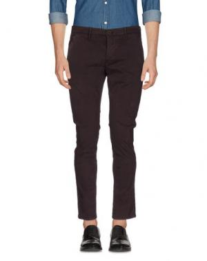 Повседневные брюки 0/ZERO CONSTRUCTION. Цвет: баклажанный