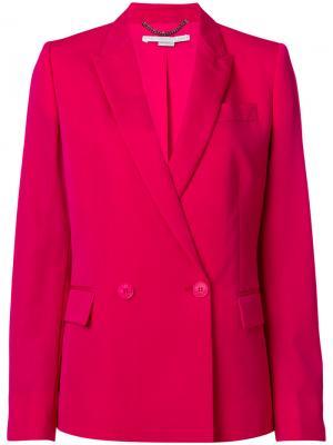 Приталенный двубортный блейзер Stella McCartney. Цвет: розовый и фиолетовый