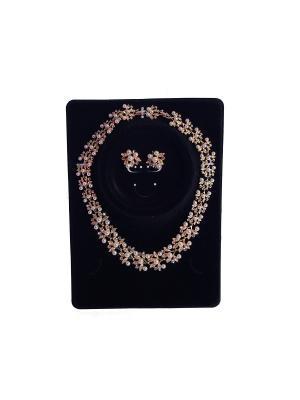 Комплект: ожерелье и серьги White Daisy. Цвет: светло-голубой, розовый, светло-желтый