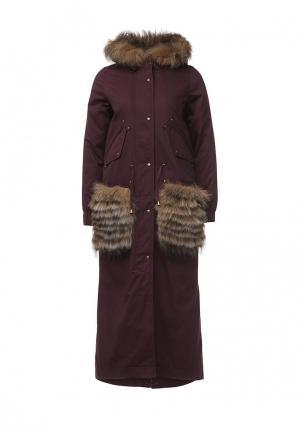 Куртка утепленная V&Florence. Цвет: фиолетовый