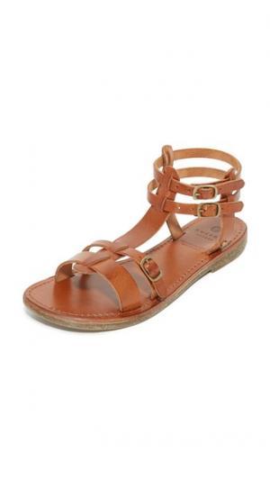 Кожаные сандалии Maquinna Hudson London. Цвет: бежевый