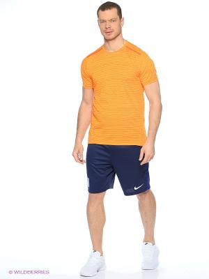 Футболка DF COOL TAILWIND STRIPE SS Nike. Цвет: оранжевый